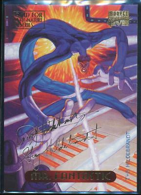 1994 Marvel Masterpieces Gold Signature Trading Card #76 Mr. Fantastic