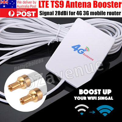 LTE TS9 Antenna Booster Amplifier Panel 28dBi Gain Signal for 4G 3G Router BI620