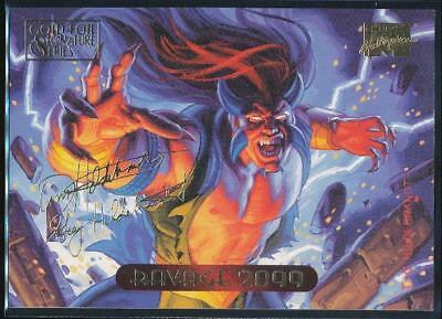 1994 Marvel Masterpieces Gold Signature Trading Card #98 Ravage 2099