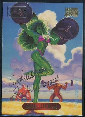 1994 Marvel Masterpieces Gold Signature Trading Card #108 She-Hulk