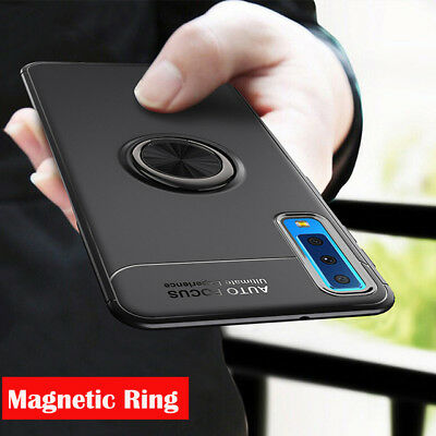 For Samsung Galaxy A7 2018 Magnetic Ring Stand Holder Hybrid Armor Case Cover