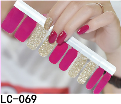 20Pcs Real Nail Polish Wraps Stickers Patch Foils Art Decals Adhesive Easy Apply