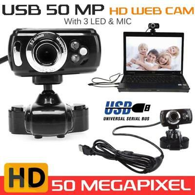 HD USB Webcam Video Camera 50.0M With Microphone For PC Laptop Skype