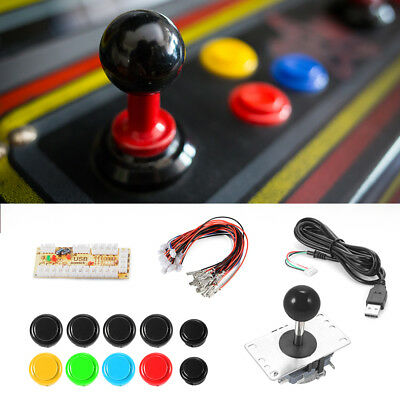 Zero Delay Arcade Spiel DIY USB Encoder zu PC Button Joystick 2 4 8 Way AC700