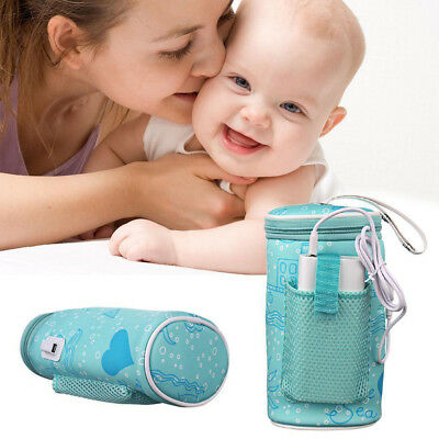 Portable USB Heating Baby Milk Water Bottle Warmer Bag Car Travel Heater Newest