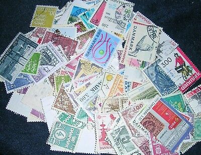 Denmark Postage Stamps over 100 stamps mixed  great condition