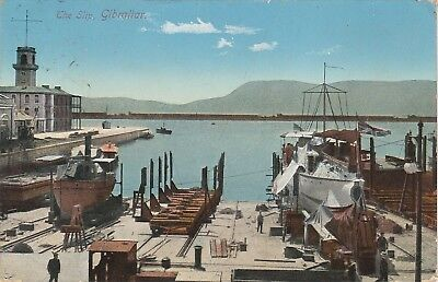 PPC The Slip, Gibraltar - Used - post date 1912