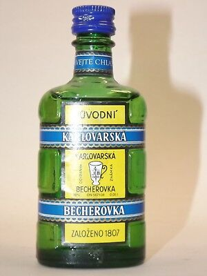 BECHEROVKA BYLINNY  LIKER 0,05 38% mini flasche bottle miniature CESKA REPUBLIKA