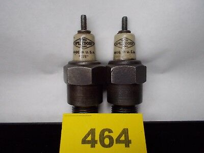"Vintage SPLITDORF ""775"" SET OF TWO Spark Plug Threads 18 mm Hex 1"" (464)"