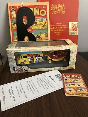 Lledo Beano Comic Collectable With Issue 1 Replica Models Mask Phone Card