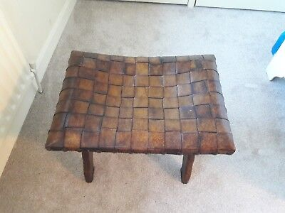 Vintage Antique Wooden Piano Stool or Dressing Table Seat
