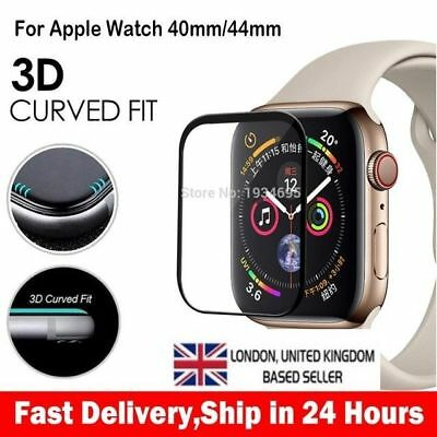Apple Watch Series 4 3D Full Cover Tempered Glass Screen Protector 40mm/44mm uk