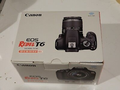 Box for Canon EOS Rebel T6 Camera EF-S 18-55mm IS II Lens Kit (Empty)
