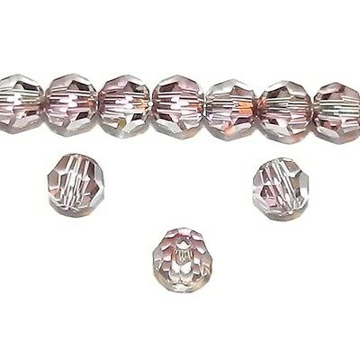 SCR3109 Antique Pink 4mm Faceted Round Swarovski Crystal Beads 12pc