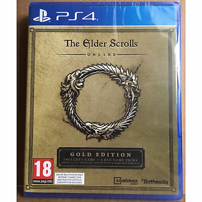 The Elder Scrolls Online Gold Edition (PS4) New and Sealed