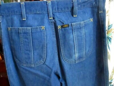 52aa127d 32x33 Actual FIT True Vtg 70s LEE HIPPY POCKET BOOTCUT Mens Denim Jeans USA