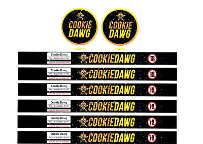 COOKIE DAWG Cali Tin Labels Stickers / Tuna Can Labels *BEST QUALITY*