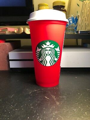 STARBUCKS RED 16 oz. TRAVEL REUSABLE LIMITED EDITION HOLIDAY CHRISTMAS 2018 CUP