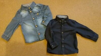 Baby Boy Blue Shirt 6-9 Months, Formal and Casual Bundle, Excellent Condition