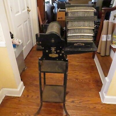 Multigraph No. 60 Antique Vintage Printing Press w/Stamps, Stand - SEE PICS!