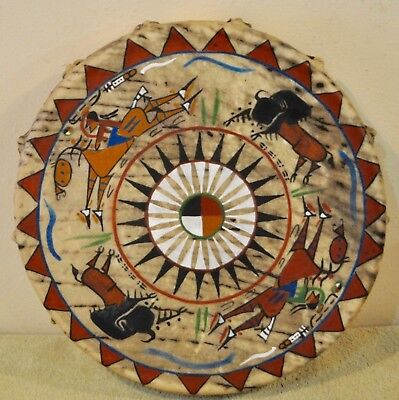 A Good Day/ Native American Drum Painted by Lakota Artist Sonja Holy Eagle