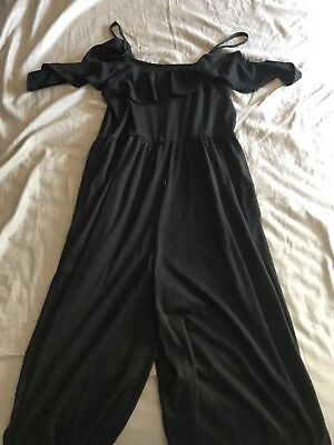 7e81e0307237 TIME AND TRU BLACK Jumpsuit Sleeveless Cold Shoulder Women s Size Medium  (8-10)