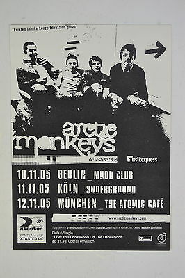 Arctic Monkeys 2005 German Tour Berlin Munchen Koln Stickers Flier Postcard