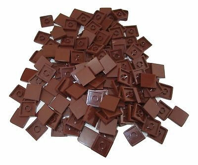 LEGO Reddish Brown Tile 2x2 with Groove Lot of 100 Parts Pieces 3068b
