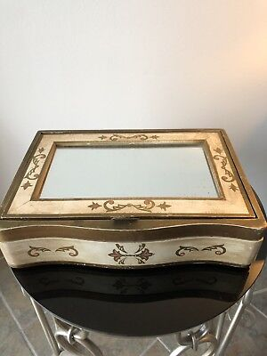 Vintage Italian Florentine Gold Gilt Jewelry Box / Writing Desk Must SEE !!!