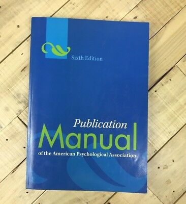 Publication Manual of the American Psychological Association Paperback