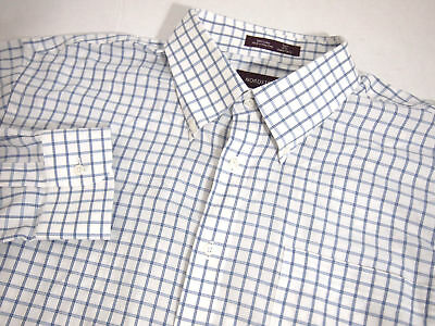 Nordstrom Mens Dress Shirt 18 34 35 Blue Solid Collared Button