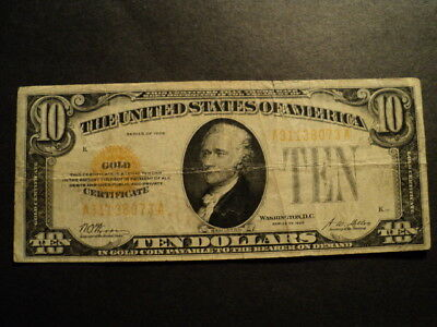Us $10.00 Gold Certificate Series 1928