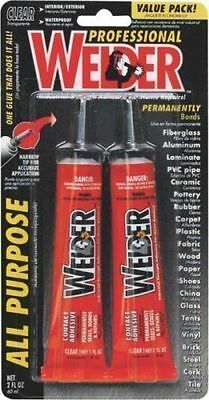 New Homax Welder 2 Pack All Purpose Contact Glue Adhesive Clear