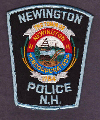 Vintage Town of NEWINGTON N.H. POLICE Embroidered Patch New Hampshire