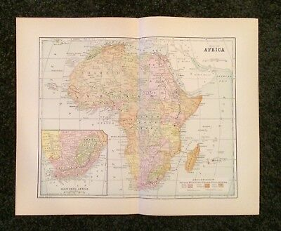 Vintage Original Map 1897 Africa, Eaton & Mains