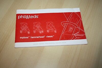 User guide for Phil and Teds Explorer, Hammerhead, Classic pram