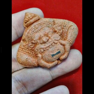 Magic Giant Phra Rahu Om Jan  Lp Key Gambling Luck Charm Rich Thai Buddha Amulet