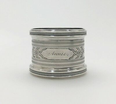 "A Very Fine Antique Great Condition Sterling Silver Napkin Ring ""ANNIE"""