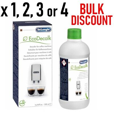 Genuine Delonghi Descaler 500ml Coffee Machine Espresso Cleaner EcoDecalk