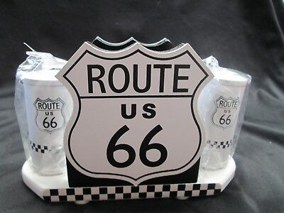 Route 66 Napkin Holder with Salt & Pepper Shakers