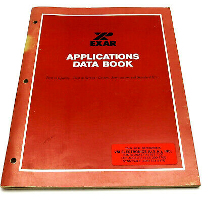 EXAR 1979 APPLICATIONS DATA BOOK Manual Catalog FSK MODEMS Repeaters DT DECODERS