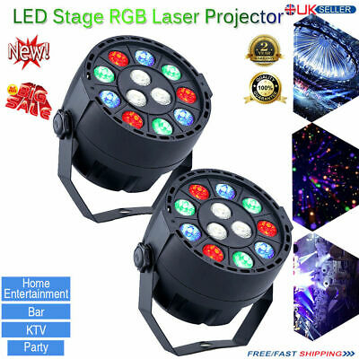 2x 30W RGBW Stage Lighting Spot GOBO LED Moving Head DMX512 Disco DJ Party Light