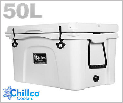 50L Chillco Ice Box Cooler Chilly Bin Superior Ice Retention
