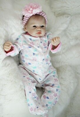 Realistic 22'' Reborn Baby Girl Real Life Silicone Vinyl Newborn Doll Xmas Gifts