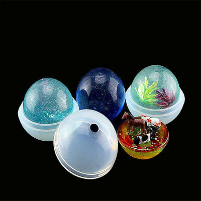 1set 3D Round Ball Silicone mold diy Making Resin Casting Mould Craft Tool_k