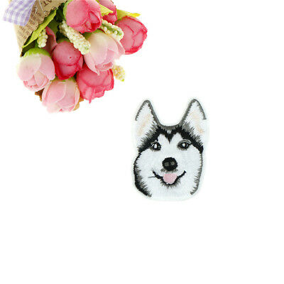 1pc Husky Dog Embroidery Sew Iron On Patch Badge Clothes Applique Accessories_k