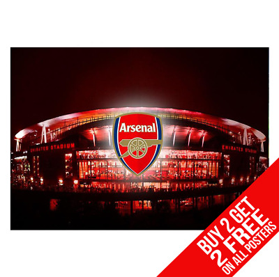 Arsenal Emirates Stadium Bb2 Poster A4 A3 Size Print - Buy 2 Get Any 2 Free