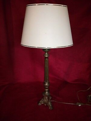 Spades candle mounted in lamp bronze electrified Good condition