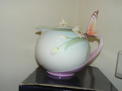 Franz Porcelain Collection Butterfly Tea Pot Boxed Xp1878 Jen Woo Lovely
