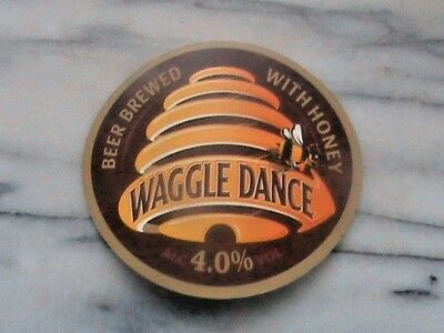 Young's Waggledance brewed with honey real ale beer pump clip sign